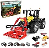 Myste Technics 4 in 1 Tracteur Télécommandé avec 4 Moteurs, 2596 Pièces Multifonctionnel 2.4G RC Tracteur Jeu de Construction Outils Agricoles Jouet, Mould King 17019, Compatible avec Lego