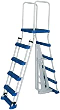 Aqua Select A-Frame Ladder with Removable Steps for Above Ground Pools | 52-inch Pool Wall Height | with Non-Slip Step Tread Risers | Top Platform and Rounded Handrails for Ease of Entry/Exit