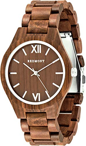 Oliver Redmont Reloj de Madera para Hombres Classic Collection Walnut