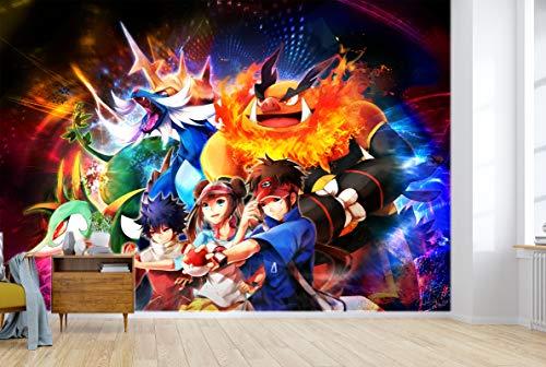 "AJ WALLPAPER 3D Murals for Pokemon Pikachu 686 Japan Anime Tapeten Drucken Spiel Karikatur Wandgemälde Selbstklebend Tapete MXY DE Maze (Vinyl (Kein Kleber & abnehmbar), 【 82""x58""】 208x146cm(BxH))"
