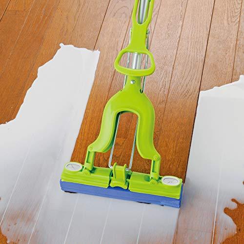 アズマ工業アズマ吸水モップグングンマイクロ激拭きワイパーF拭き幅27cm柄の長さ67.5~93.5cm簡単絞りAZ251