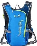 YJIUJIU - Mochila de ciclismo impermeable de 10 litros, mochila de hidratación transpirable para correr, senderismo, escalada, camping, esquí, senderismo, maratoner, hombres y mujeres, color azul