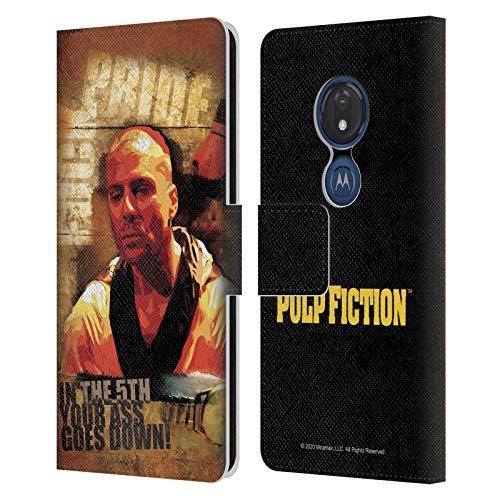 Head Case Designs Licenza Ufficiale Pulp Fiction Butch Arte Cover in Pelle a Portafoglio Compatibile con Motorola Moto G7 Play