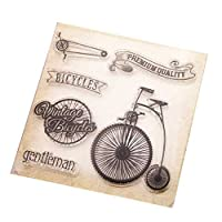 jokeWEN クリアスタンプ シリコンスタンプ DIYアルバムスクラップブッキングフォトカードの装飾のためのバイククリアシリコンシールスタンプしがみつく