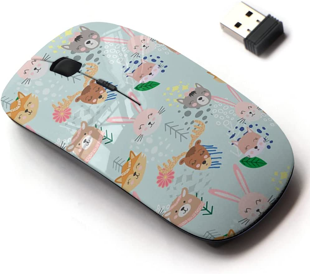 2.4G Wireless Mouse with latest Cute Pattern for Seattle Mall Laptops Design All and