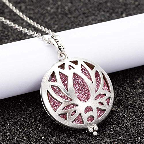 Aromatherapie Schmuck Diffuser Locket Aroma Diffuser jewelry Necklace Open Lockets butterfly Pendant Perfume Essential oil Locket  Necklace Chain length 60cm HS06