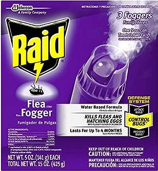 Raid Flea Flogger Plus Killer Kills Fleas and Hatching Eggs  3 Count  Pack of 3