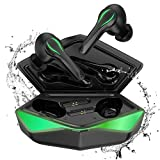 KINGSTAR TWS Gaming Wireless Earbuds,Bluetooth 5.0 Auto Pairing Earphones 65ms Low-Latency Immersive Sound Wireless Headset in Ear Built in Mic Headphones for Game/Music Dual Mode Switch