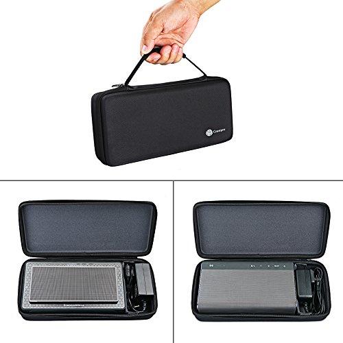 Trageetui für Bowers & Wilkins T7 Creative Sound Blaster Roar 2/Creative Sound Blaster Roar Tragbarer Bluetooth-Lautsprecher, extra Platz für Stecker & Kabel (schwarz)
