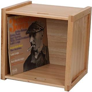 Estante de madera para almacenamiento de discos de vinilo, cafetería, bar de hotel, gabinete de exhibición de discos de vi...