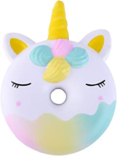 Anboor 4.5 Inches Squishies Unicorn Donut Kawaii Soft Slow Rising Scented Doughnut Squishies Stress Relief Kid Toys