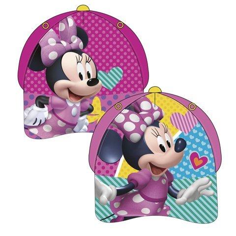Familie24 Minnie Maus Auswahl Baseball Cap Kappe Schirmmütze Kinderbaseballcap (Pink 48-51cm)