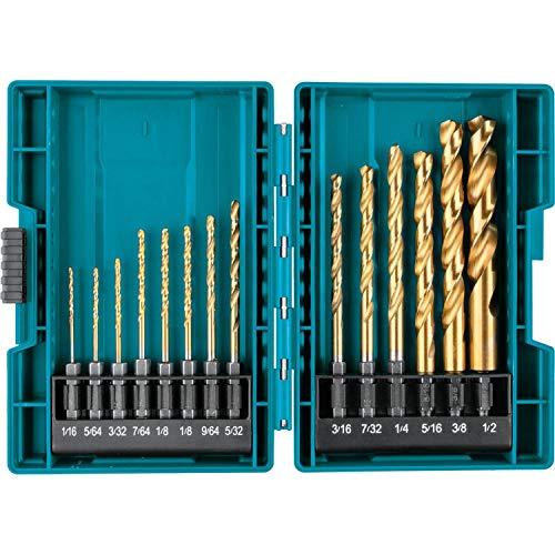 Makita B-65399 Impact Gold 14 Pc. Titanium Drill Bit Set, 1/4 In. Hex Shank