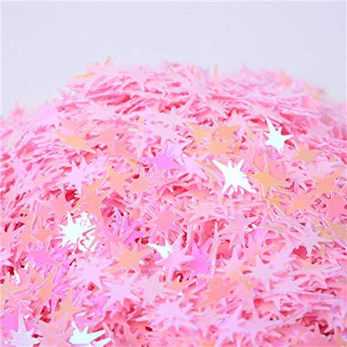 Ster pailletten 10mm mix kleur roze witte pailletten voor nagels kunst bruiloft kerstdecoratie confetti 20g, ab roze, 20g