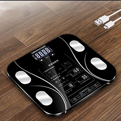 Great Deal! CZX USB Rechargeable Body Weight Scale Weight Scale Electronic Scale Fat Measurement Bod...