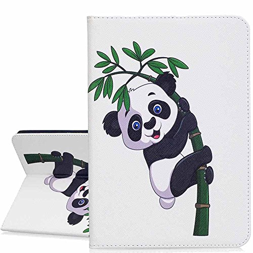Samsung Galaxy Tab S28.0Funda, A-BEAUTY pintura patrón Premium PU Cuero Flip Billetera Slim Book Case Smiling panda Galaxy Tab S2 8.0 (SM-T715)