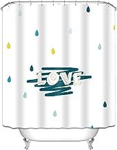Wenko Rideau De Douche Uni Blanc Polyester 240 x 180 cm lavable pendu