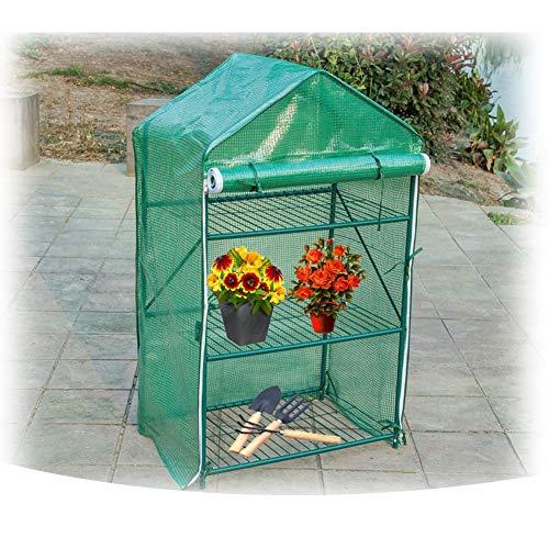 Gzhenh Invernadero Planta Hidratante Impermeable Lona Alquitranada Invernadero Plastico Soporte De Flores Multicapa Marco De Tubo De Acero Jardinería Carpa Al Aire Libre