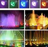 Amecty LED-Beleuchtung Gartenteichleuchte, IP65 10W Unterwasser-RGB-Spotlichter, farbwechselnde LED-Aquarienleuchte, Aquariumleuchte für Brunnen oder Teich