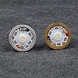 Jammas 8x7135 10x7135 12xAMC7135 Driver Board Module Cree XP-L HI V3 LED Bulb Lamp Cap for C12 Flashlight - (Emitting Color: 6500K-Aluminum Base, Wattage: 3MODE8x7135)