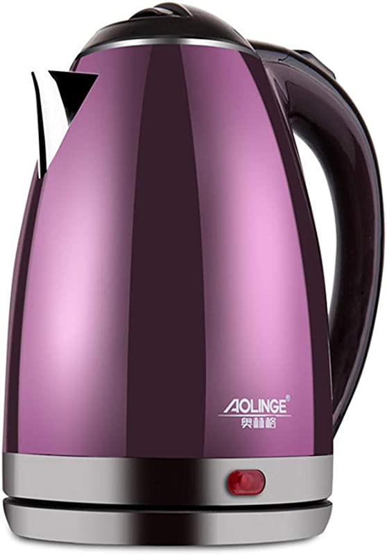 XYEQZ Electric Kettle 304 Stainless Steel Automatic Power Off Household Mini Portable Fast Boiling Water Bottle 2L
