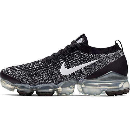 Nike W Air Vapormax Flyknit 3, Zapatillas de Atletismo Mujer, Multicolor (Black/White/Metallic Silver 1), 40 EU
