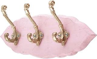IndianShelf - Lot de 2 petits crochets en bois rose faits à la main pour accrocher des clés, des chapeaux ou des vêtements