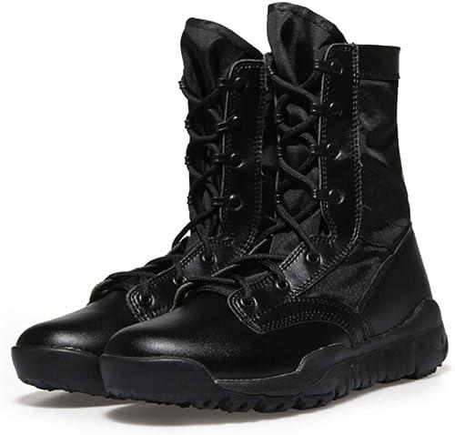 QIKAI Chaussures Militaires Et bottes Bottes Tactiques Ultra-légères Pour Fans De L'armée En Plein Air Dans Le Désert Pour Hommes Bottes Simples Forces Spéciales Randonnée Camping