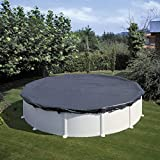 Gre CIPR451 - Cobertor de Invierno para Piscina Redonda de 460 cm de Diámetro, Color Negro