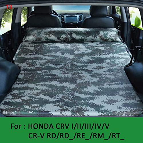 QCCQC Geeignet für Toyota Highlander/Kluger/Land Cruiser J1 J9 J12 J15 Automatisch aufblasbares Auto Bett Klappbarer Kofferraum Reiseluftkissen Bett Luftmatratze, Tarnung, T3