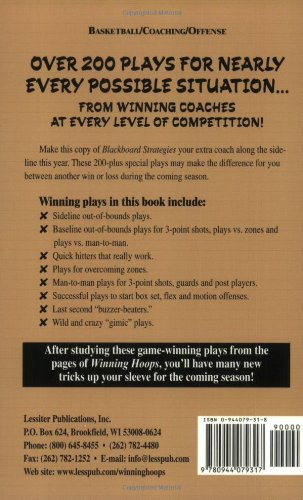 Blackboard Strategies: Over 200 Favorite Plays From Successful Coaches For Nearly Every Possible Situation (Winning…