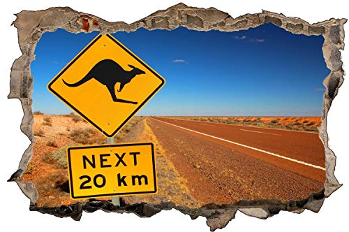 Australien Wüste Schild Kangaroo Wandtattoo Wandsticker Wandaufkleber D1689 Größe 120 cm x 180 cm