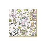 Caspari - Tovaglioli di carta, motivo: Alice nel paese delle meraviglie, confezione da 20