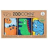 ズッキーニ (Zoocchini) 【日本正規品】トレーニングパンツ オーガニックコットンBoys (3T/4T) - 恐竜の仲間 ブルー/ネイビー/イエロー 3枚セット 幼児用 男の子用 吸水性 贈り物 ZOO7004