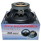 PYRAMID PW1048USX altavoz difusor woofer 25,00 cm 250 mm 10' 250 vatios rms 500 vatios max impedancia 8 ohm casa dj fiestas disco party cuelga 2,600 kg 89,2 db suspensión en goma