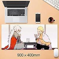 ナルトアニメマウスパッド拡張マウスパッド - ゲームマウスパッド - オフィスデスクマットステッチエッジ&スキッドプルーフラバーベース - 15.75 x 35.45インチ-A4_300 * 600 * 3mm