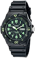 professional Casio MRW200H-3BV Diver Style Men's Neo Display Sports Watch