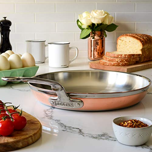 Hestan - CopperBond Collection - 100% Pure Copper Skillet, 12.5-Inches