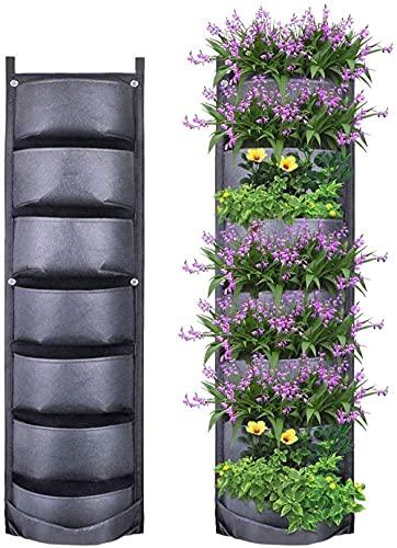 1 pz Borse per piante7 tasche Fioriera da parete verticale da giardino ,Sacchifioriera verticale, per la decorazione della casa del giardino.