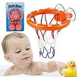 Wopin Basket Games Basket Hoop Hanel-Canasta Baloncesto Infantil Bañera Playset para Little Baby Bath Toys Juego Creativo de tiros de bañera, Regalo de Juguetes de baño para niños y niños pequeños