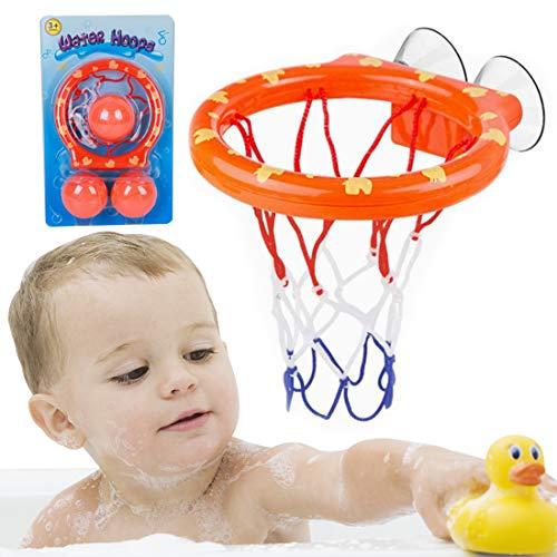 Wopin Basket Games Basket Hoop Hanel-Canasta Baloncesto Infantil Bañera Playset para Little Baby Bath Toys Juego Creativo de tiros de bañera, Regalo de Juguetes de baño para niños y niños pequ