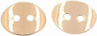 arricraft 100pcs Rose Gold Button Snaps Bracelet Clasps 2 Holes for Necklaces, Rings, Bracelet and Jewelry, 14x10mm