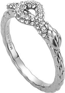 خاتم من الفضة اللون مع احجار بيضاء من لينيا انيمال - JCRG00760108
