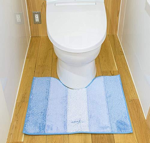 山崎産業トイレ足元マットアクアフィールソフティブルーレギュラー55×65cm364756
