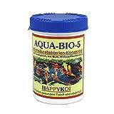 AQUA BIO 5 Milchsäurebakterien Pulver, probiotische Filterbakterien für Koiteich, Teich und Gartenteich, unterstützen die Nitrifizierung, bauen Algen und Schlamm ab. Der Rundum-Schutz für Koi und Teich. (1500 ml)