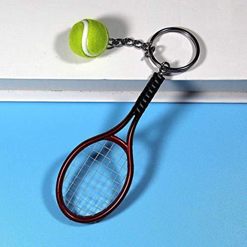 KKAAMYND Llavero con colgante de raqueta de tenis de moda para regalo del día de la pareja, color rojo, 100% nuevo y de alta calidad.