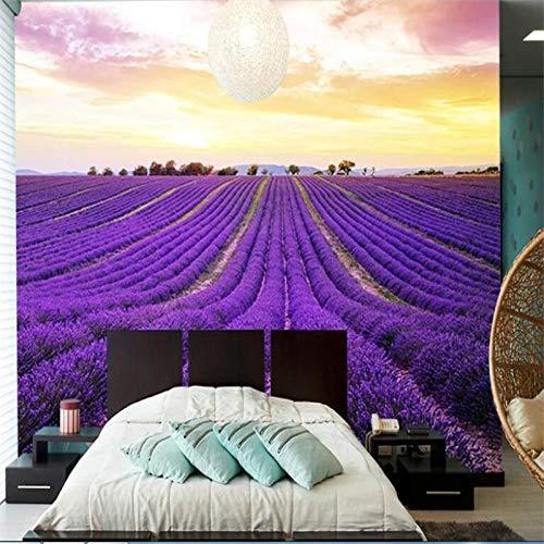 JIAOYK Fotomurali Lavanda, Hanada Fotomurali Tessuto non tessuto 3d Design moderni arte gigante Poster for soggiorno cameretta Decorazione 250cm(W) x175cm(H)