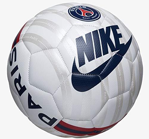 NIKE PSG Prestige Logo Balon de Fútbol de Entrenamiento, Unisex Adulto, Multicolor (White/Metallic Silver/Midnight Navy), 5