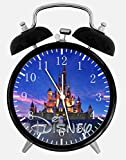 Black Frame Disney Castle Alarm Clock 4 Inches Nice for Gifts or Decor E19