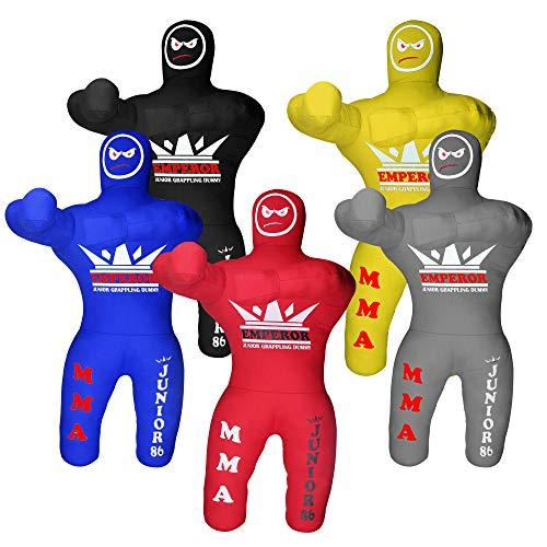 Emperor Sports Kids Grappling Dummy für Kinder BJJ Wrestling Dummy Boxsack MMA Brazilian Jiu Jitsu Kinder Judo Werfen Boxen Dummies ungefüllt (blau)